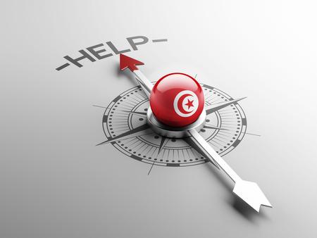 tunisie: Tunisia High Resolution Help Concept