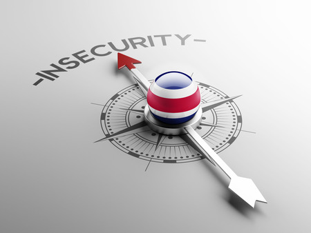 insecurity: Costa Rica  High Resolution Insecurity Concept Stock Photo