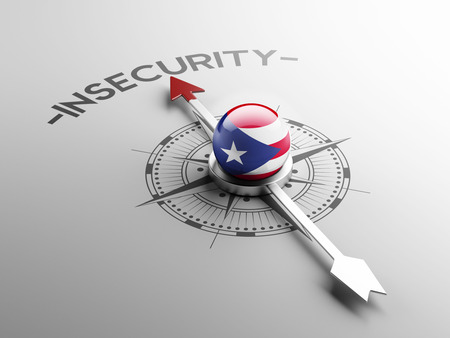 insecurity: Puerto Rico High Resolution Insecurity Concept