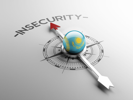 insecurity: Kazakhstan High Resolution Insecurity Concept Stock Photo