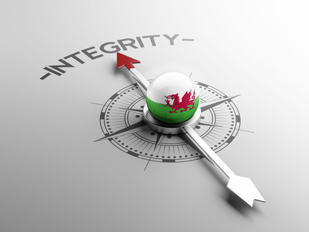 sincere: Wales High Resolution Integrity Concept Stock Photo