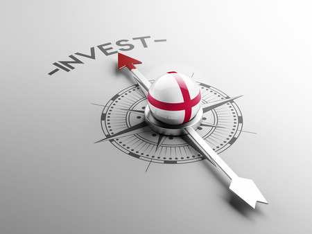 invest: England High Resolution Invest Concept Stock Photo