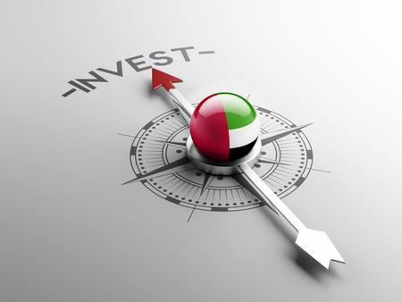 United Arab Emirates  High Resolution Invest Concept