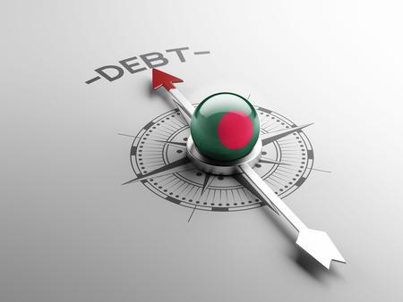 Bangladesh High Resolution Debt Concept Stock Photo