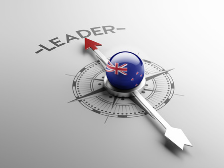 new zealand word: New Zealand High Resolution Leader Concept Stock Photo