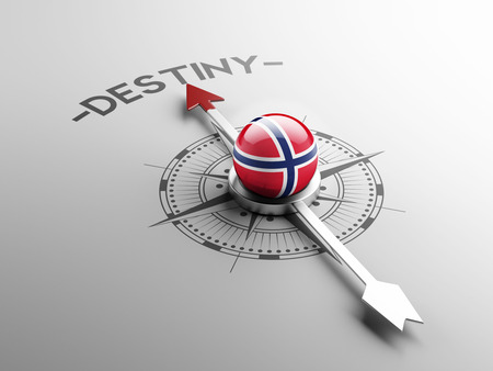 destin: Norv�ge Haute D�finition destin Concept Banque d'images