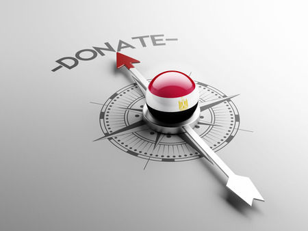 african solidarity: Egypt High Resolution Donate Concept Stock Photo