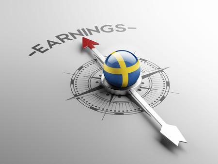 earnings: Sweden High Resolution Earnings Concept
