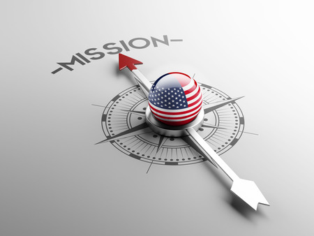 visions of america: United States High Resolution Mission Concept Stock Photo
