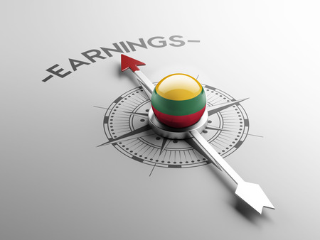 earnings: Lithuania High Resolution Earnings Concept Stock Photo