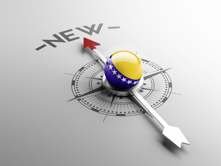 renewed: Bosnia and Herzegovina  High Resolution New Concept Stock Photo