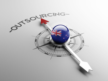 delegate: New Zealand High Resolution Outsourcing Concept Stock Photo