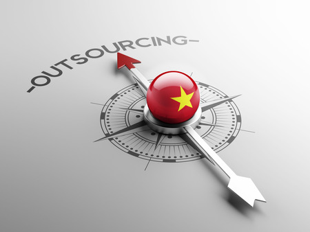 outsourcing: Vietnam High Resolution Outsourcing Concept