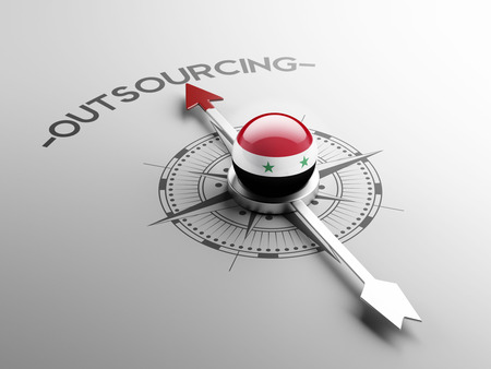 outsourcing: Syria High Resolution Outsourcing Concept