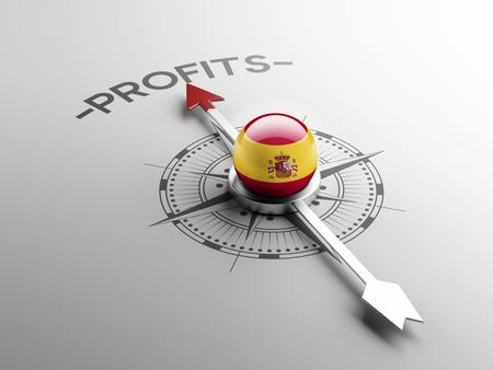 profitability: Spain High Resolution Profit Concept