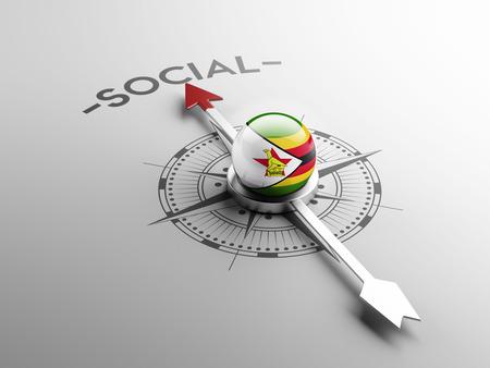 convivial: Zimbabwe High Resolution Social Concept