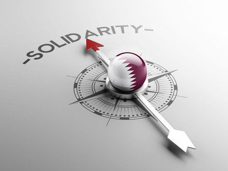 Qatar High Resolution Solidarity Concept photo