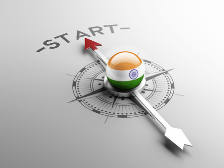 India met hoge resolutie Start Concept