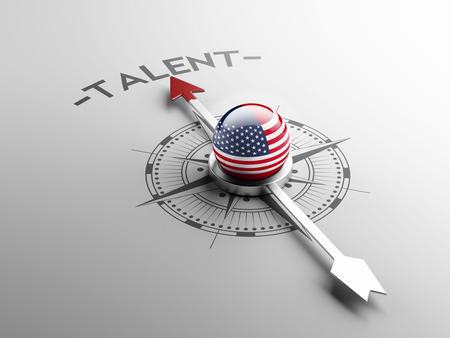 Verenigde Staten met hoge resolutie Talent Concept