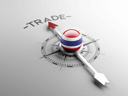 Thailand met hoge resolutie Trade Concept Stockfoto