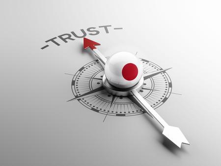 confianza concepto: Jap�n Alta Resolution Trust Concepto