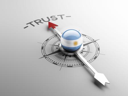 confianza concepto: Argentina Alto Resolution Trust Concept