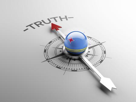 the truth: Aruba High Resolution Truth Concept Stock Photo