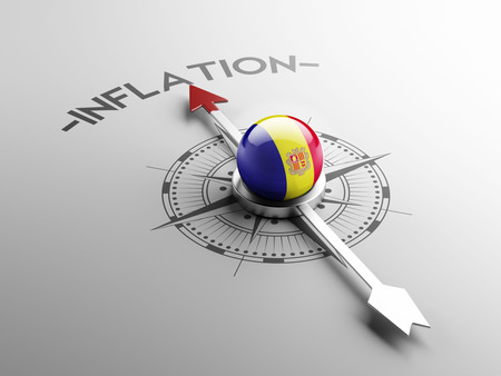 inflation: Andorra High Resolution Inflation Concept Stock Photo
