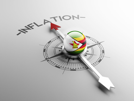 inflation: Zimbabwe High Resolution Inflation Concept Stock Photo