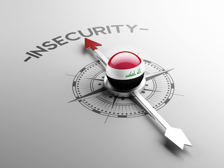 insecurity: Iraq High Resolution Insecurity Concept