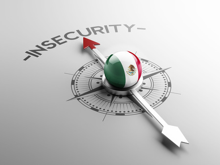 insecurity: Mexico  High Resolution Insecurity Concept Stock Photo