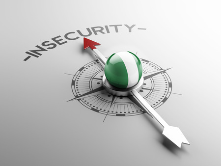 insecurity: Nigeria  High Resolution Insecurity Concept