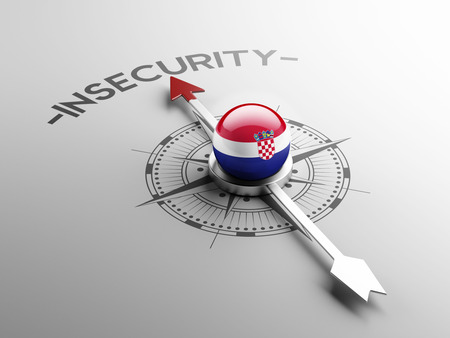 insecurity: Croatia  High Resolution Insecurity Concept