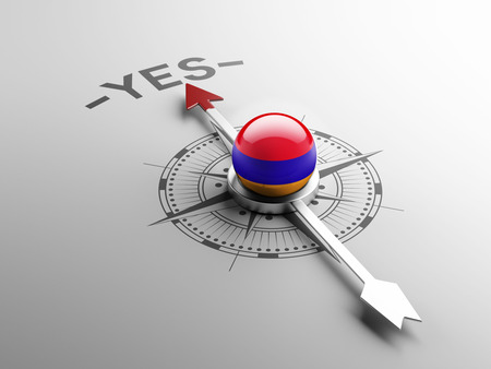 affirmative: Armenia High Resolution Yes Concept Stock Photo
