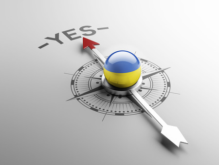 assent: Ukraine High Resolution Yes Concept Stock Photo