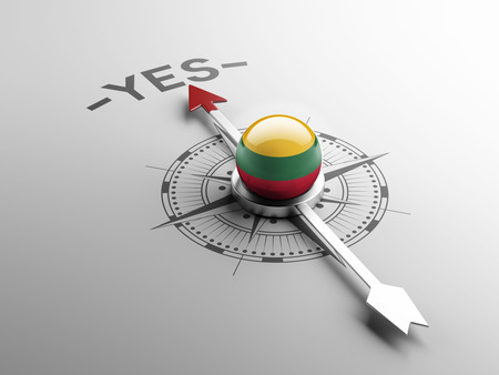 assent: Lithuania High Resolution Yes Concept Stock Photo