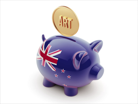 new zealand word: New Zealand High Resolution Art Concept High Resolution Piggy Concept Stock Photo