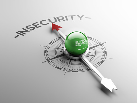 insecurity: Saudi Arabia High Resolution Insecurity Concept