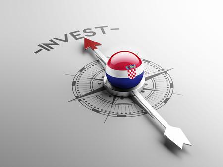 Croatia  High Resolution Invest Concept Stock Photo