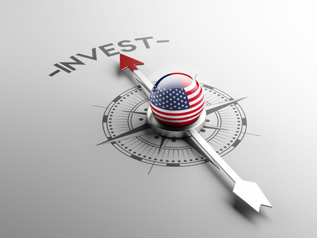 strategist: United States High Resolution Invest Concept Stock Photo