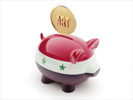 Syria High Resolution Art Concept High Resolution Piggy Concept photo