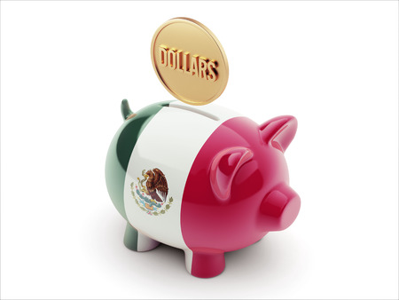 Mexico  High Resolution Dollars Concept High Resolution Piggy Concept photo