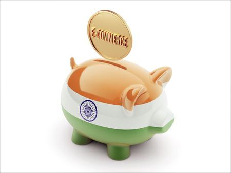 India High Resolution E-Commerce Concept High Resolution Piggy Concept