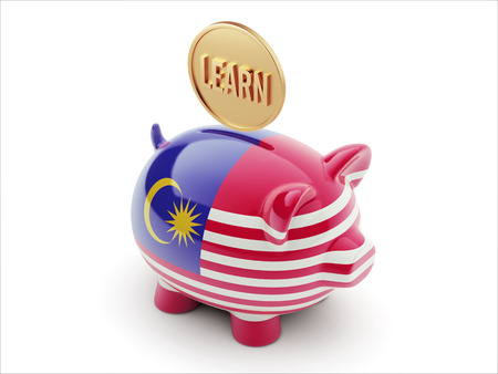 Malaysia High Resolution Learn Concept High Resolution Piggy Concept photo