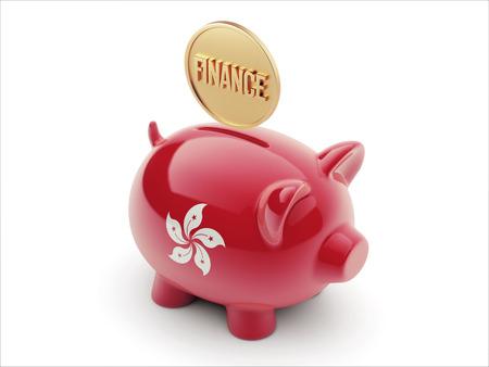 Hong Kong High Resolution Finance Concept High Resolution Piggy Concept Stock Photo