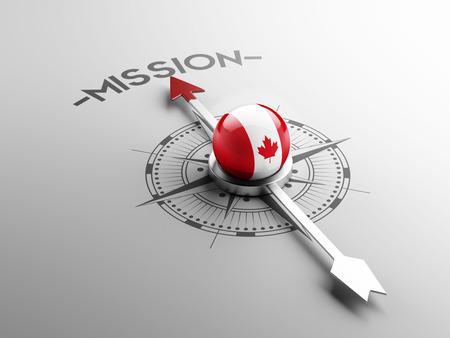 Canada met hoge resolutie Missie Concept Stockfoto