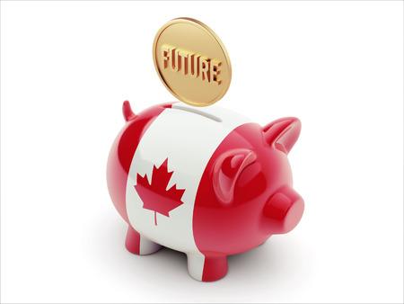 imminent: Canada High Resolution Future Concept High Resolution Piggy Concept Stock Photo
