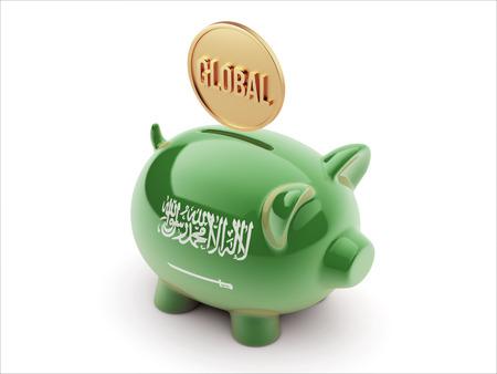 Saudi Arabia High Resolution Global Concept High Resolution Piggy Concept photo