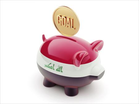 iraq money: Iraq High Resolution Goal Concept High Resolution Piggy Concept