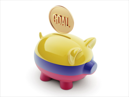 Colombia High Resolution Goal Concept High Resolution Piggy Concept photo